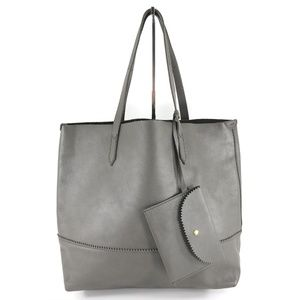 J.CREW Leather Shopper Tote Shoulder Bag Handbag